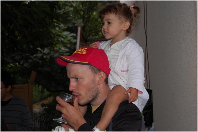 Candela et son papa Elie