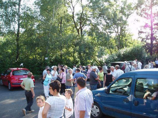 la descente du car a Mortagne