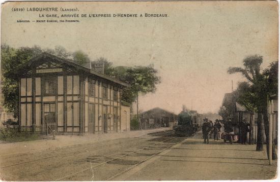 Labouheyre - Le train d'Hendaye