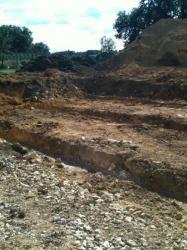 Coffrages terre pour les fondations