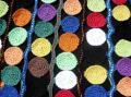 Haut Arlequin-détail ronds en couleurs