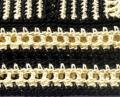 Haut jaune et noir - détail du bas