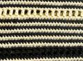 Haut jaune et noir - détail du point