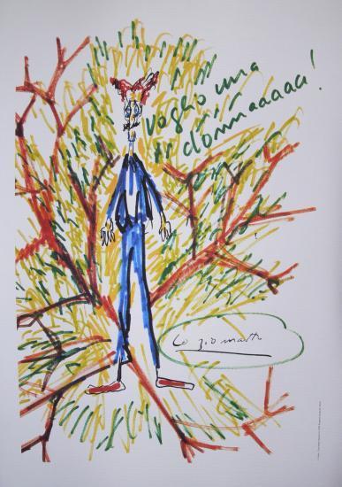 Federico Fellini,Amarcord,Ciccio Ingrassia,Litografia,Disegno,Soryboard