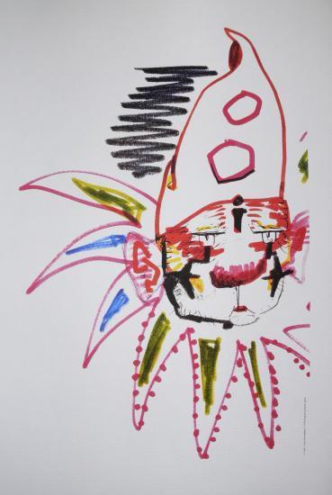 Federico Fellini, I clowns,Charlie Rivel,Litografia,Disegno,Storyboard