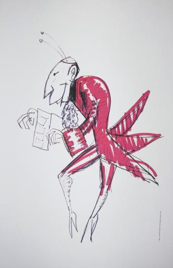 Il casanova di Federico Fellini, casanova,Daniel Emilfork,Litografia,Disegno,Storyboard