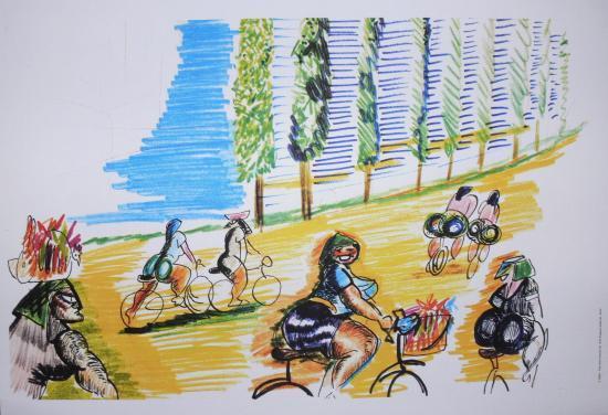 Federico Fellini,Amarcord,I Contadine,Litografia,Disegno,Storyboard