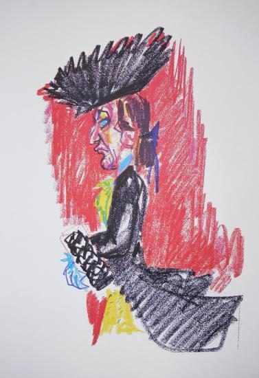 federico fellini,I Casanova,Donald Sutherland,Litografia,disegno,storyboard