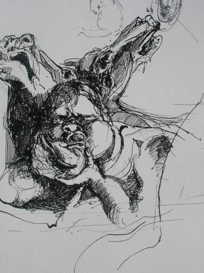 D'après Rubens. Encre. 1999.