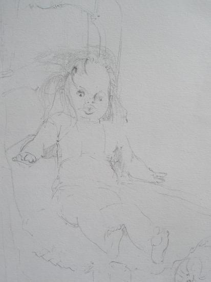 La poupée. Crayon.