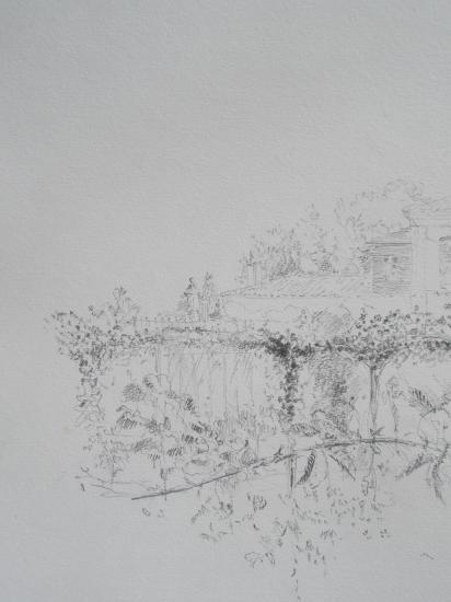 Chateau de Mongenan. Crayon