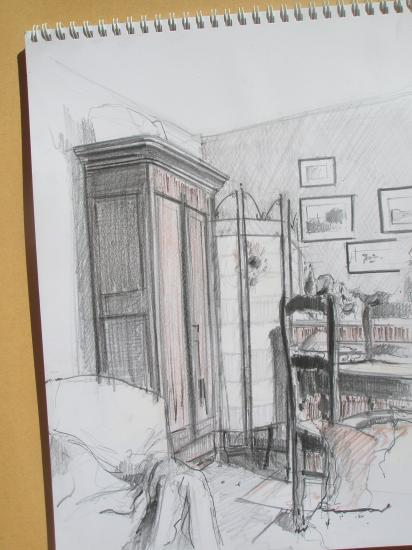 Chez Sphie à Narbonne. Crayon.