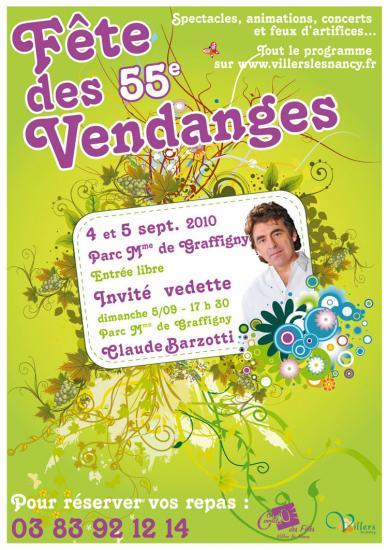 55ème fête des vendanges à Villers les Nancy dimanche 5 septembre 2010 à 17h30