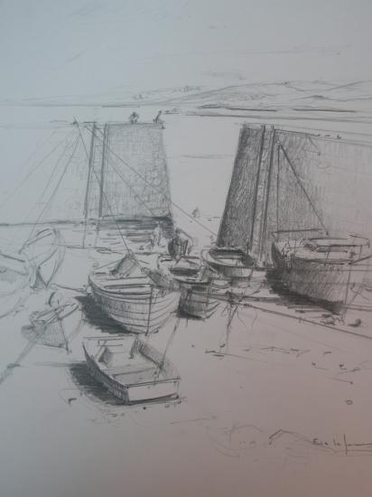 Vue de Port Racine Crayon 1994.