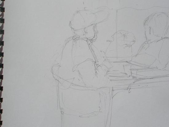 Paulo et Bilou. Crayon.