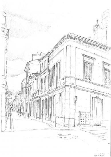 Rue Barreyre. Crayon 2B.2010.