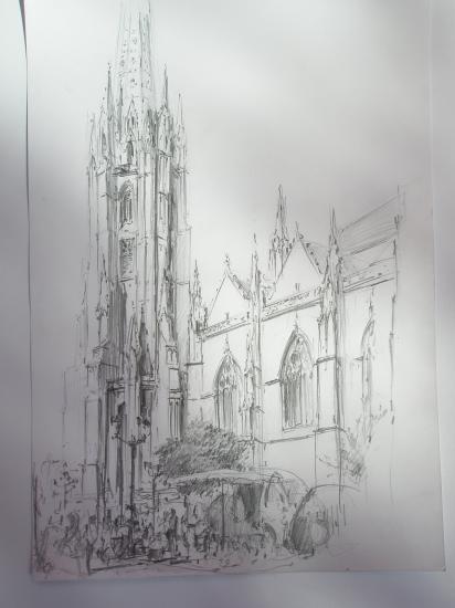 Saint Michel. Crayon 2B 2009