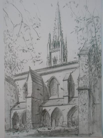 Sainte Eulalie. Crayon 2B. 2009.