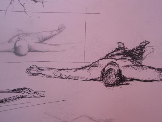Les aterrés. Encre et crayon. 199?.