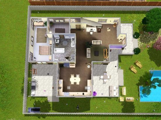 Plan maison sims joy studio design gallery best design for Modele maison sims