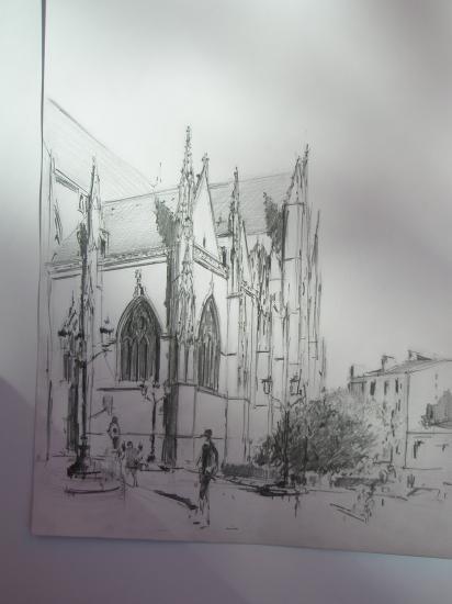 Saint Michel. Crayon 2B. 2009
