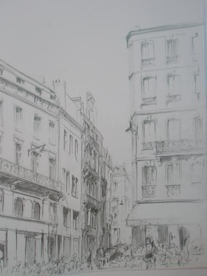 Place Fernad Lafargues. Crayon 2B.2009.