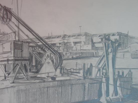 Avec le pont tournant. Crayon 2B. 200?