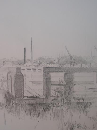 L'usine SEVESO. Crayon 2B.200?