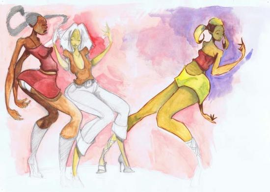 Aquarelle dance floor