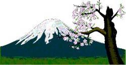 le mont Fujï au printemps