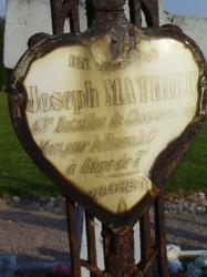 Tombe de Joseph Mathieu