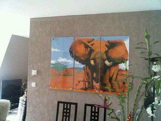 Triptyque éléphant