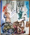 peinture sur tyvek, 11 sept 2001