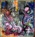peinture sur tyvek, 11sept 2001