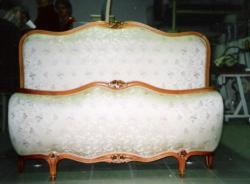 LIT SEMI CORBEILLE (réfection tête de lit en mousse - couverture tête et pied de lit)