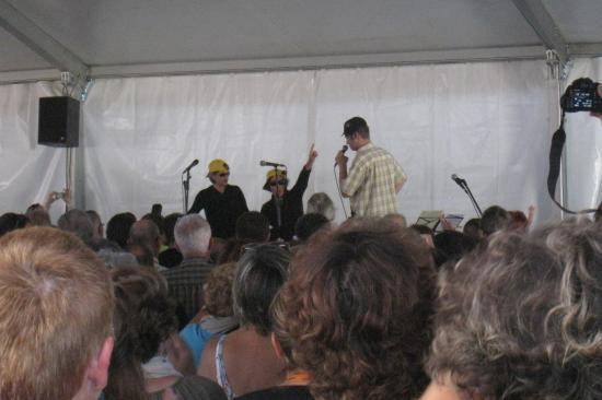 Maryline, Guylaine et Florian en plein show