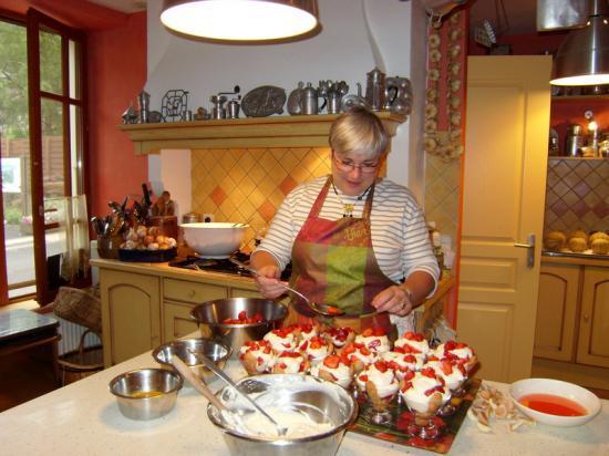 Catherine dans sa cuisine à La Vercorelle