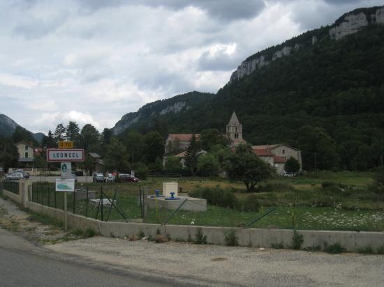Entrée du village de Léoncel