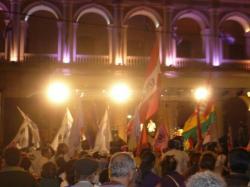 Manifestation al cabildo - Asuncion