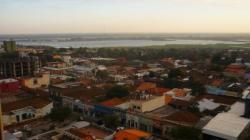 Vista sobre Asuncion y el rio Paraguay