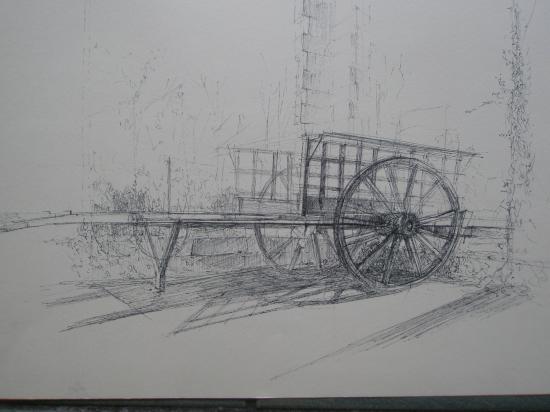 Charrette Montagne stylo bille 1996
