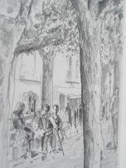 Arzua crayon 2B 2008
