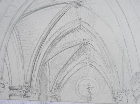San juan de Ortega crayon 2B 2008