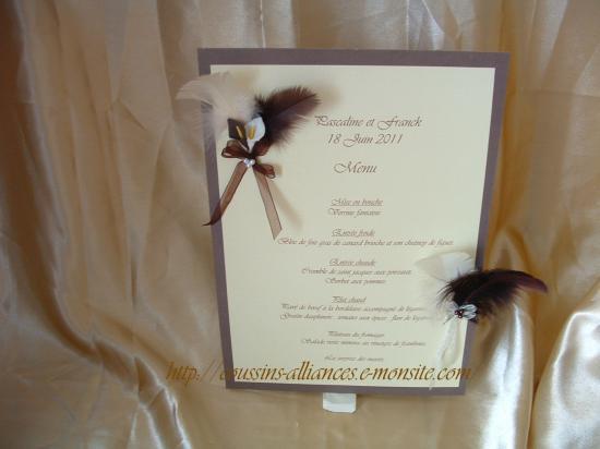 menu A4 ivoire choco arums