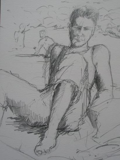 Bilou crayon 2B 2005