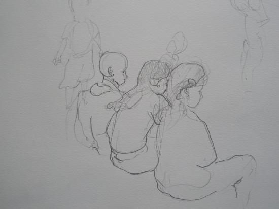 Groupe d'enfants crayon 2005