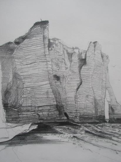 Falaise Etretat crayon 2005