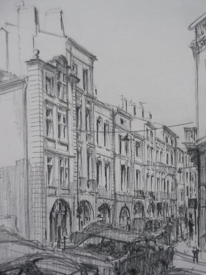 Rue Bouquières crayon 2B 2010
