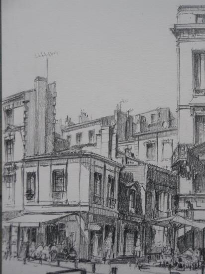 Place Fernand Lafargue crayon 2 B 2010