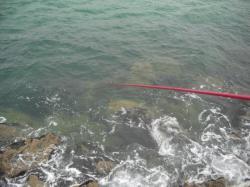la mer sur l'estacade
